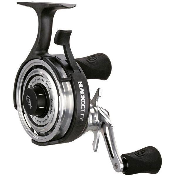 13 Fishing BBFFW2.5-LH Black Betty FreeFall Ice Reel - 2.5:1 - L/H