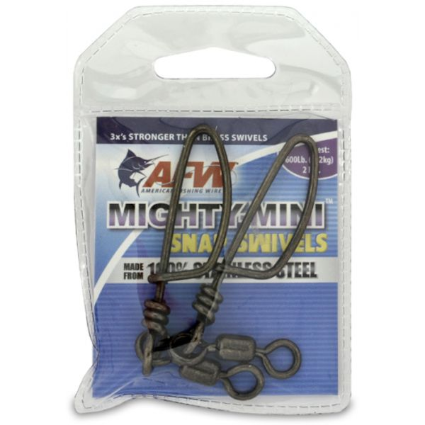 AFW FTSS600B-A 600Lb. 2pk Stainless Steel Snap Swivels Black