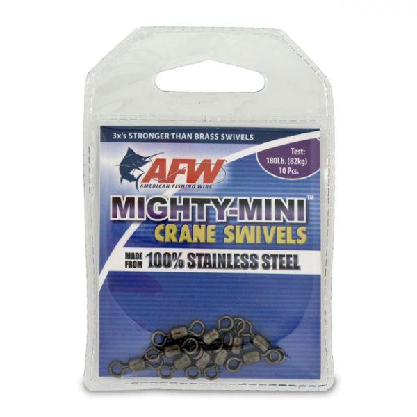 AFW FWSS07B-A 180Lb. 10pk Stainless Steel Crane Swivels Black
