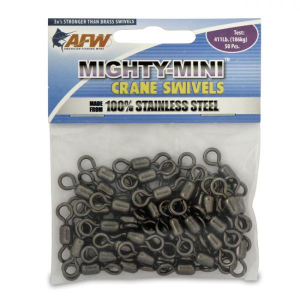 AFW FWSS1/0B/50 511Lb. 50PC Stainless Steel Crane Swivels Black