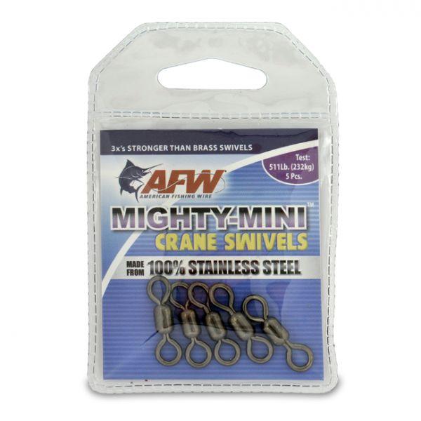 AFW FWSS1/0B-A 511Lb. 5pk Stainless Steel Crane Swivels Black