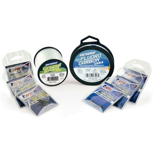 AFW Hi-Seas TK00005 Inshore Clear Mono & Fluoro Kit Medium Duty