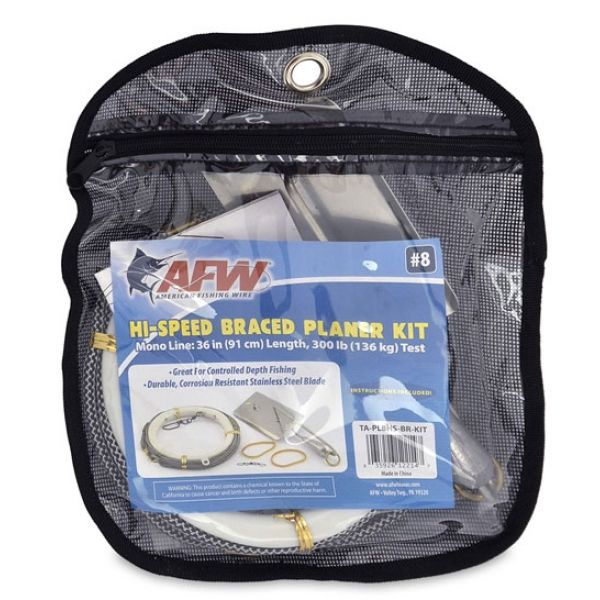 American Fishing Wire TA-PL8HS-BR-KIT Hi-Speed Braced Planer Kit