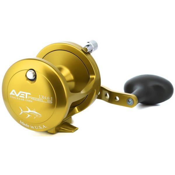 Avet LX 4.6 Single Speed Lever Drag Casting Reel Gold - Left-Hand