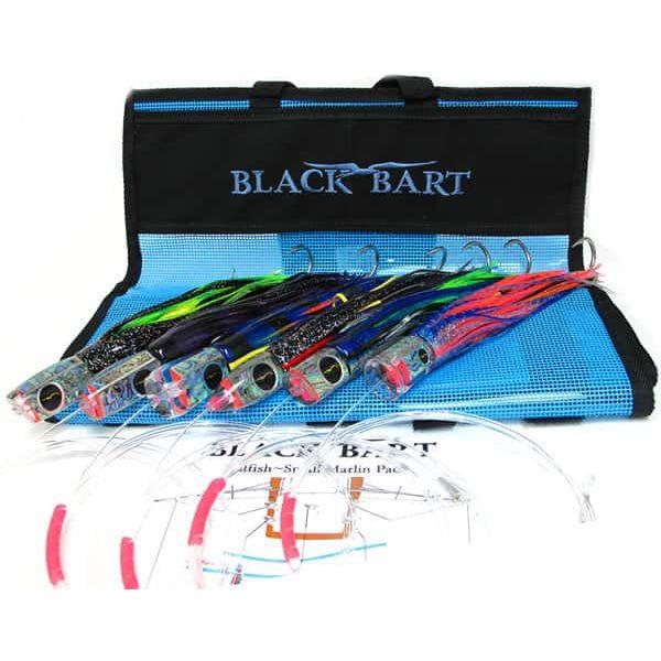 Black Bart Lures, Rigged Pack Single Hooks