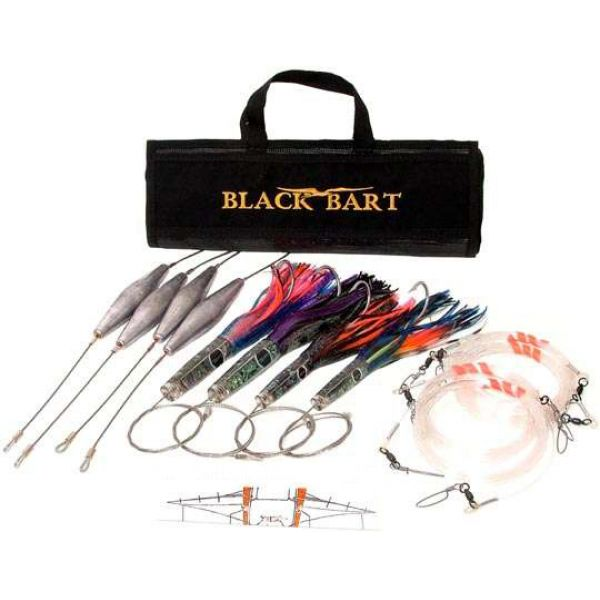 Black Bart Lures Wahoo Rigged Light Tackle Trolling Pack