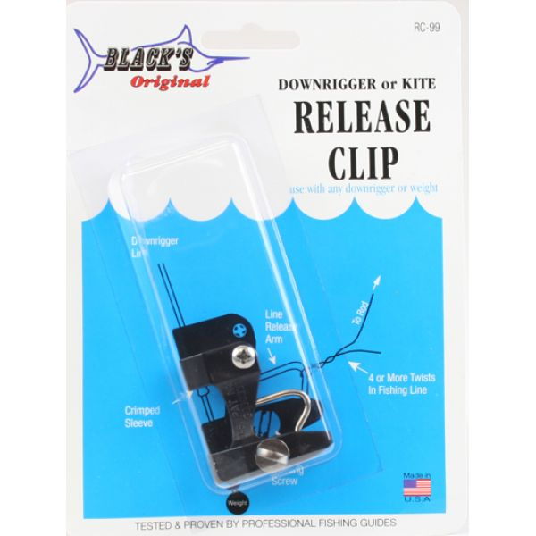 Black's Marine RC99 Outrigger, Downrigger, & Kite Release Clip