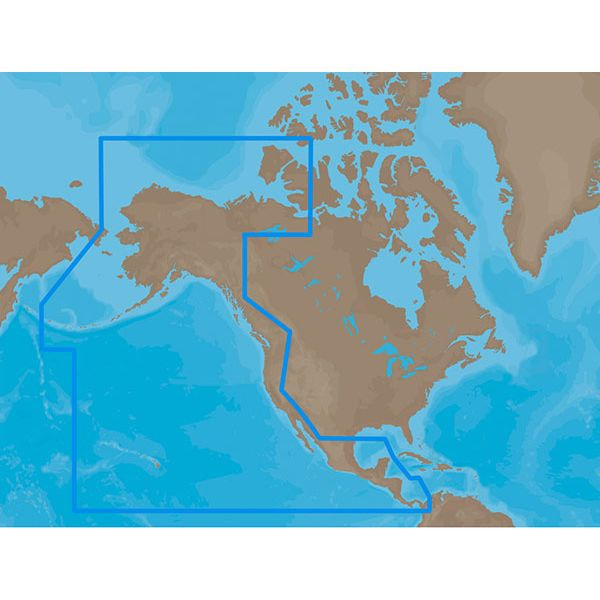 C-Map MAX Electronic Marine Chart - Pacific Coast & Central America