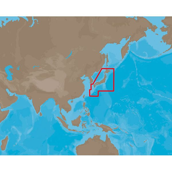 C-Map MAX Electronic Marine Charts - Asia North