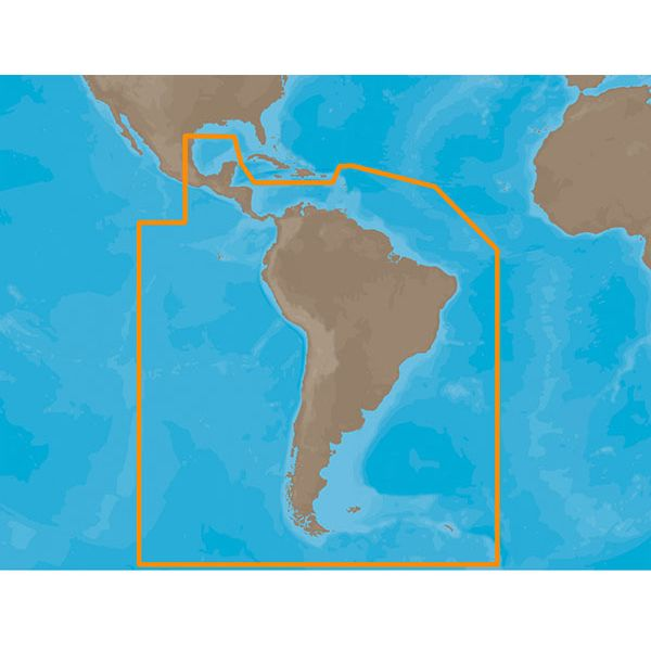 C-Map MAX Electronic Marine Charts - South America