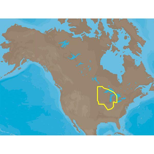 C-MAP MAX Lakes NA-M017 - Region 1: North - SD-Card