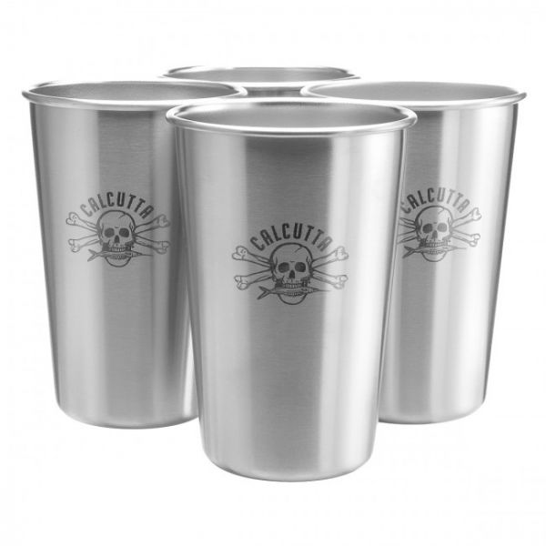 Calcutta Stainless Steel Pint Cups - 4 Pack