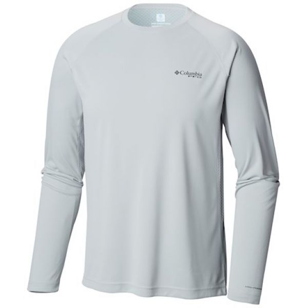 Mens M Columbia PFG Cast Away Zero Knit II Long Sleeve Fishing Shirt Vivid