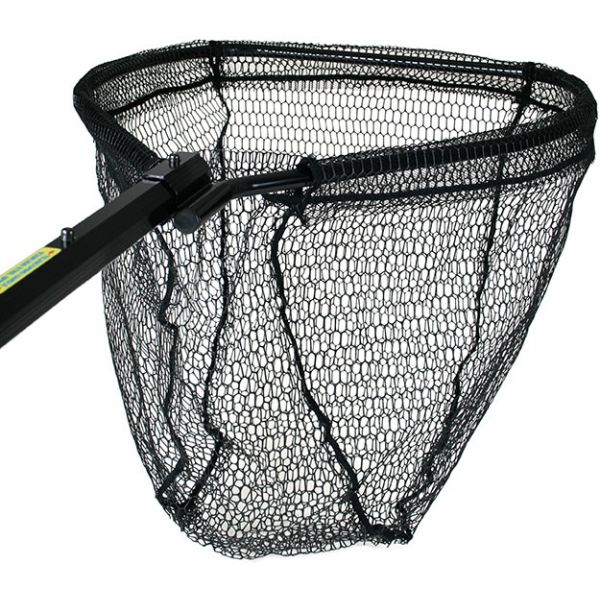 Cumings PRO-B-OCT-40-5-2 Black Octagonal Salmon Net 21.5in x 27in Bow