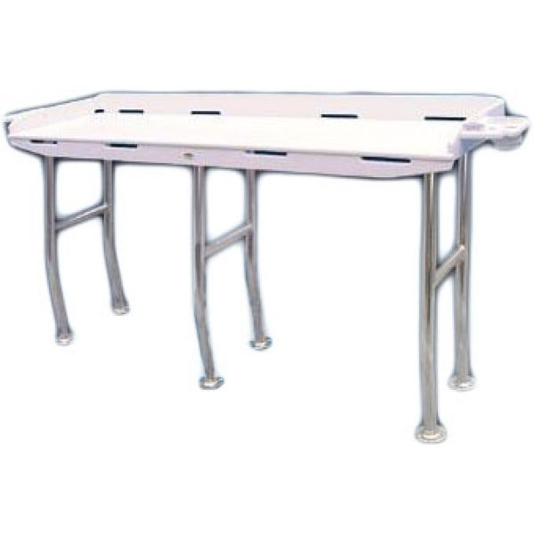 Deep Blue FT72OH Dockside Fillet Table - 72in x 21in - Overhang Legs