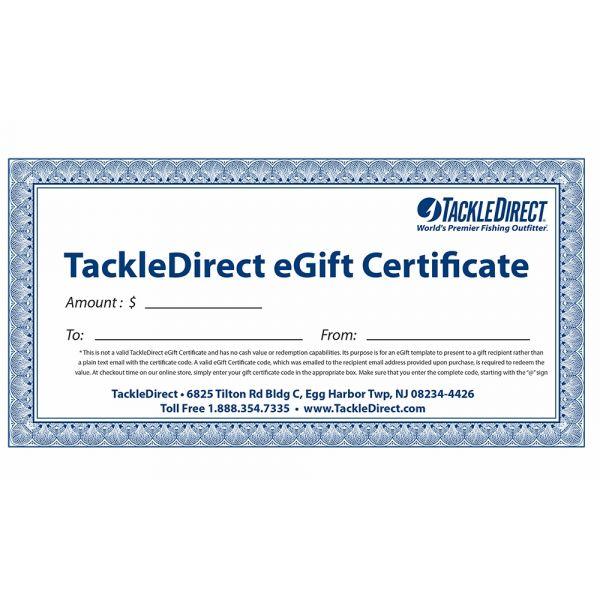 TackleDirect eGift Certificates