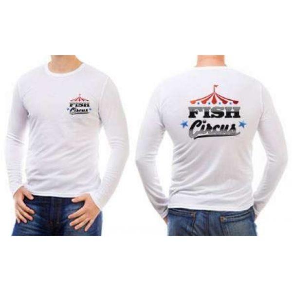 Fish Circus Fishing Team FC840 LS T-Shirt - White