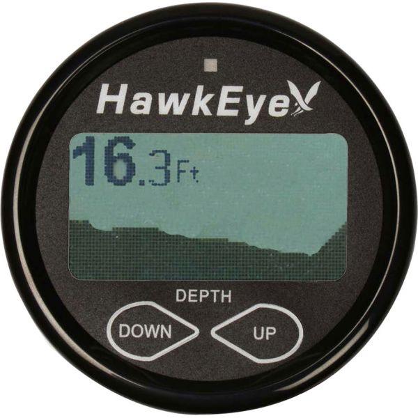 HawkEye DepthTrax 2BX In-Dash Digital Depth Temp Gauge w/ Transducer