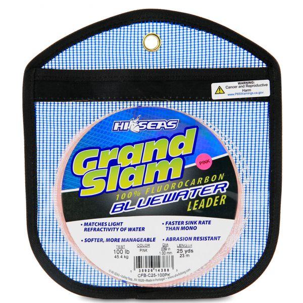 Hi-Seas Grand Slam Bluewater Fluorocarbon Leader 100lb 25yd