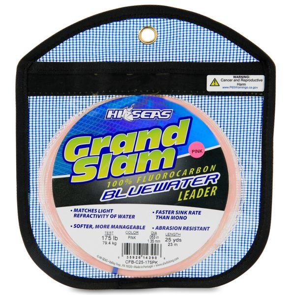 Hi-Seas Grand Slam Bluewater Fluorocarbon Leader 175lb 25yd