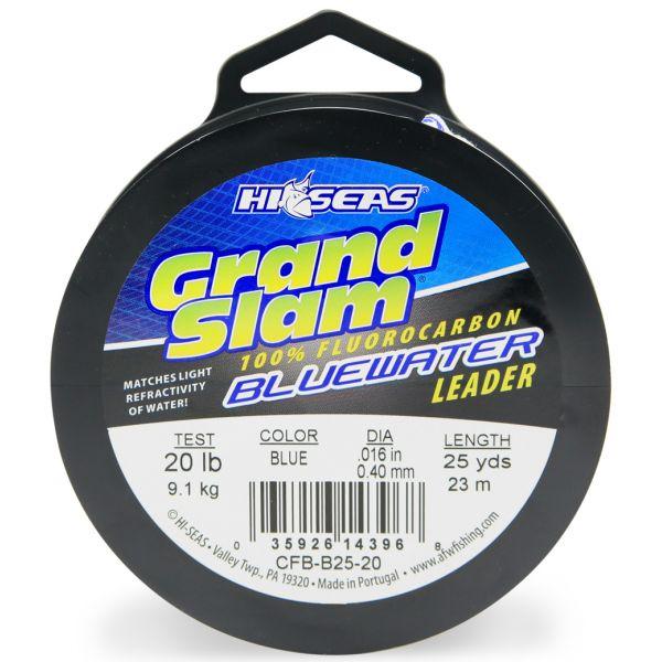 Hi-Seas Grand Slam Bluewater Fluorocarbon Leader 20lb 25yd