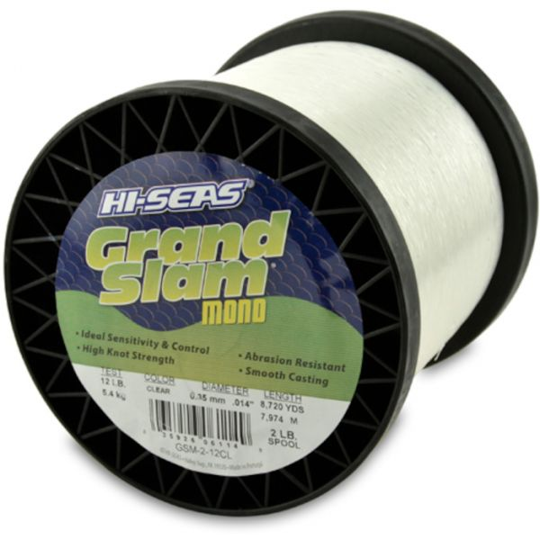 Hi-Seas Grand Slam Mono 2 lb. Spool Clear GSM-2-12CL