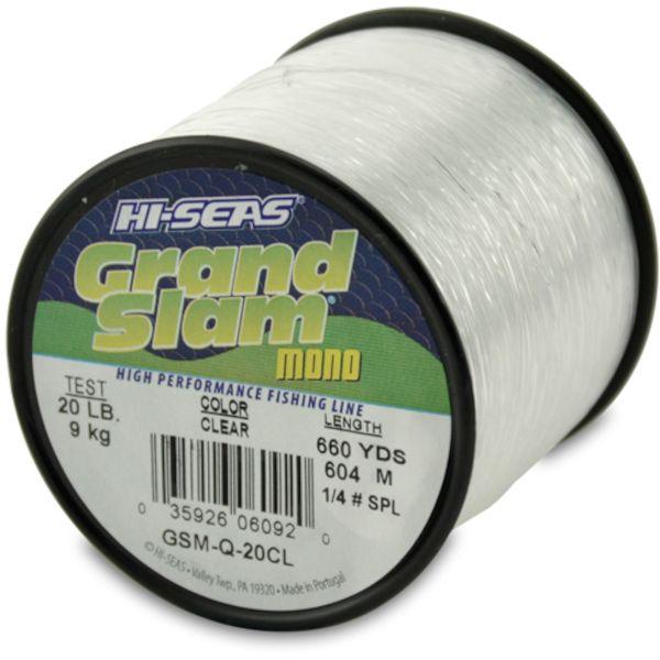 Hi-Seas Grand Slam Mono 1/4 lb. Spool Clear GSM-Q-20CL