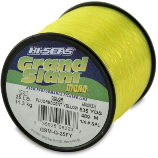 Hi-Seas Grand Slam Mono 1/4 lb. Spool Fluorescent Yellow GSM-Q-25FY