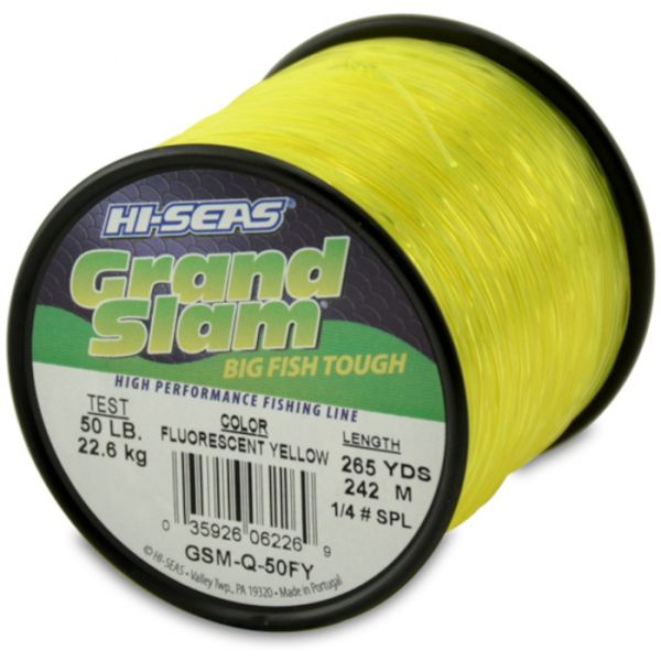 Hi-Seas Grand Slam Mono 1/4 lb. Spool Fluorescent Yellow GSM-Q-50FY