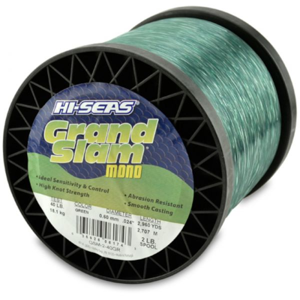 Hi-Seas Grand Slam Mono 2 lb. Spool Green GSM-2-40GR