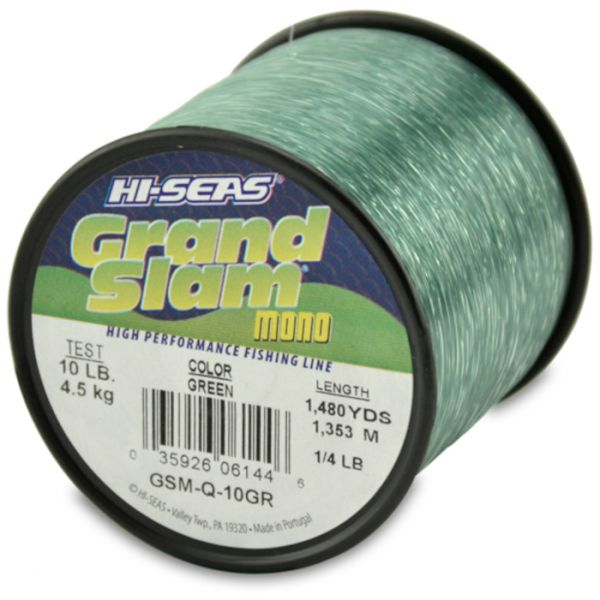 Hi-Seas Grand Slam Mono 1/4 lb. Spool Green GSM-Q-10GR