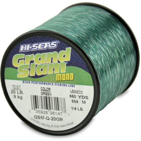 Hi-Seas Grand Slam Mono 1/4 lb. Spool Green GSM-Q-20GR