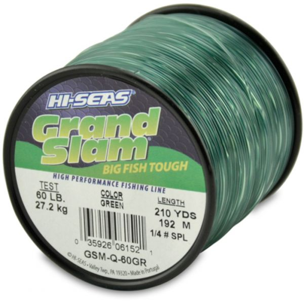 Hi-Seas Grand Slam Mono 1/4 lb. Spool Green GSM-Q-60GR