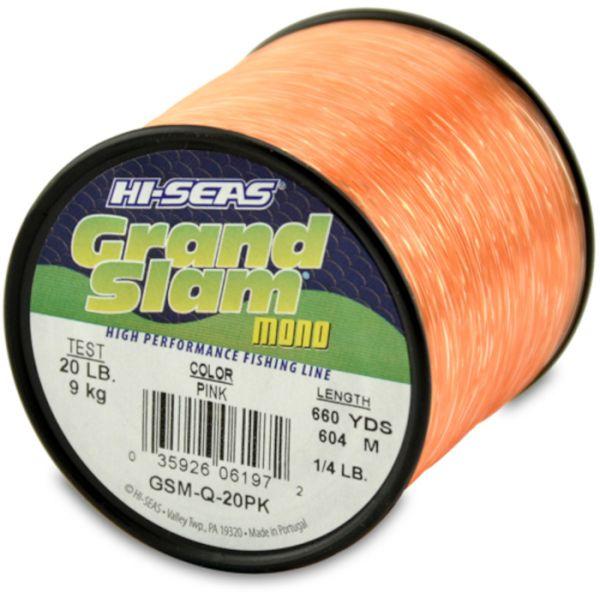 Hi-Seas Grand Slam Mono 1/4 lb. Spool Pink GSM-Q-20PK