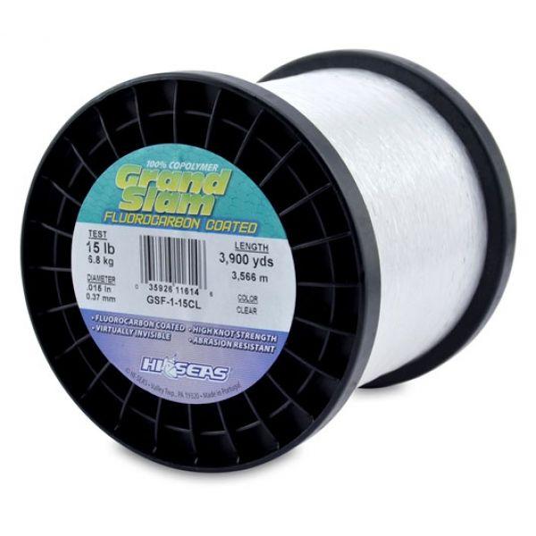 Hi-Seas GSF-1-15CL Grand Slam Fluorocarbon Coated 15lb 1lb Spool