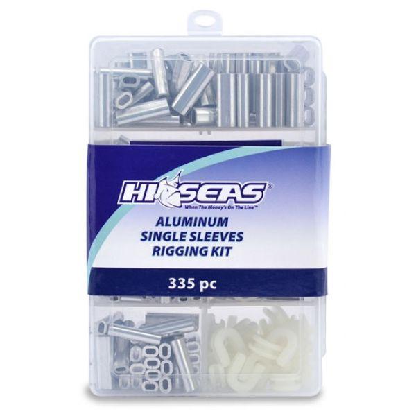 Hi-Seas TKB00001 Aluminum Single Sleeves Rigging Kit, 335 Pieces