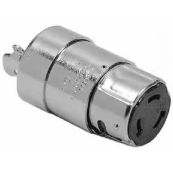 Hubbell 63CM64 Nickel Plated Brass Connector Body 50A 125/250V