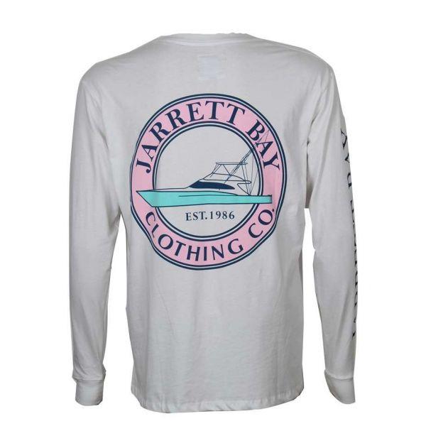 Jarrett Bay Coastal Boat Icon Harkers Island LS T-Shirt - Size Large