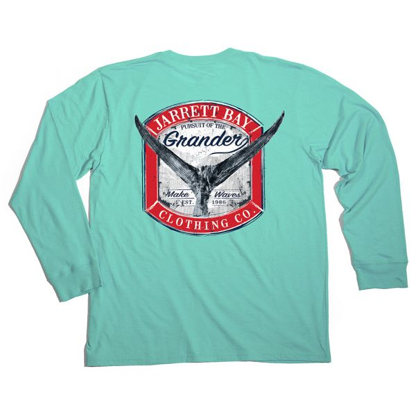 Jarrett Bay Grander Harkers Island LS Shirt - Beach Glass 3XL