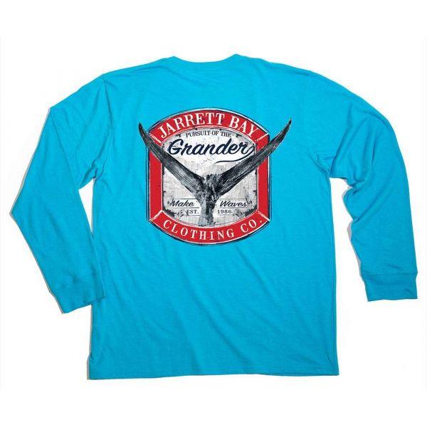 Jarrett Bay Grander Harkers Island LS Shirt - Inlet Blue