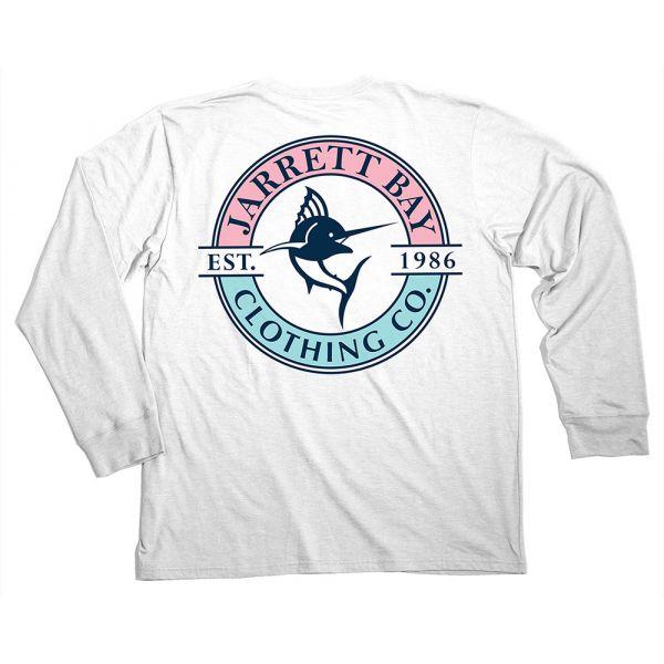 Jarrett Bay Logo Harkers Island LS T-Shirts