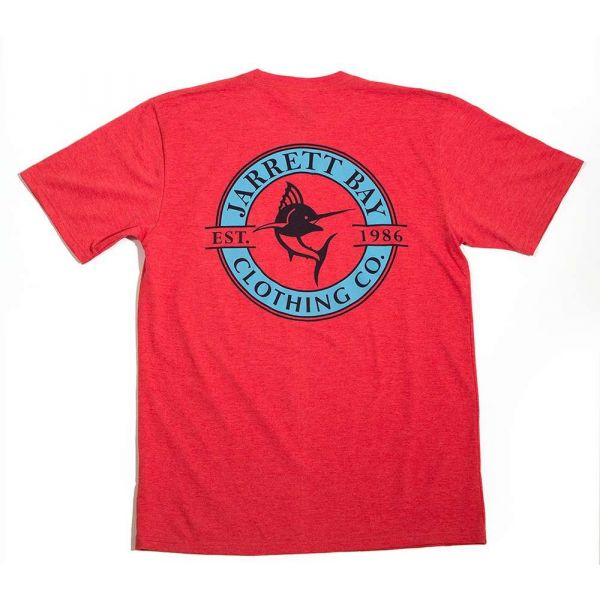 Jarrett Bay Logo Redline Bogue Sound SS T-Shirt - Buoy Red