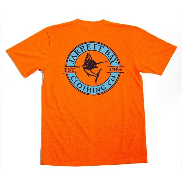 Jarrett Bay Logo Redline Bogue Sound SS T-Shirt - Sunset Orange - XL