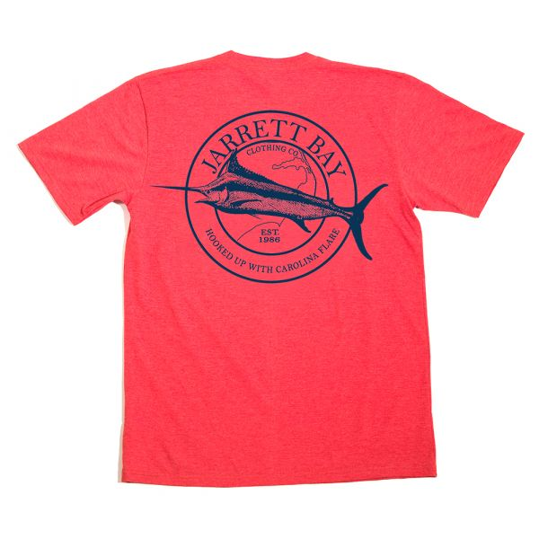 Jarrett Bay Marlin Bogue Sound SS T-Shirt - Buoy Red 3XL