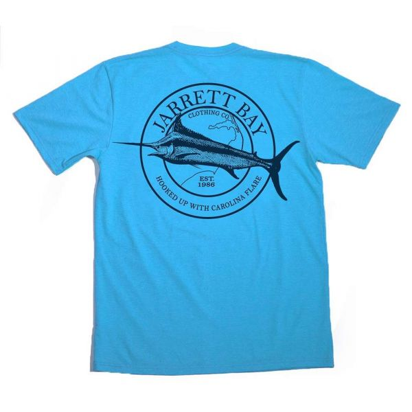 Jarrett Bay Marlin Bogue Sound SS T-Shirt - Inlet Blue