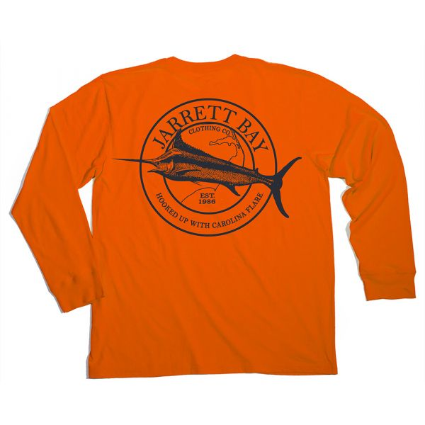 Jarrett Bay Marlin Harkers Island LS T-Shirt - 3XL