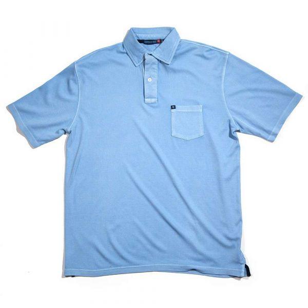 Jarrett Bay Newport Short Sleeve Polo Shirt - Ocean