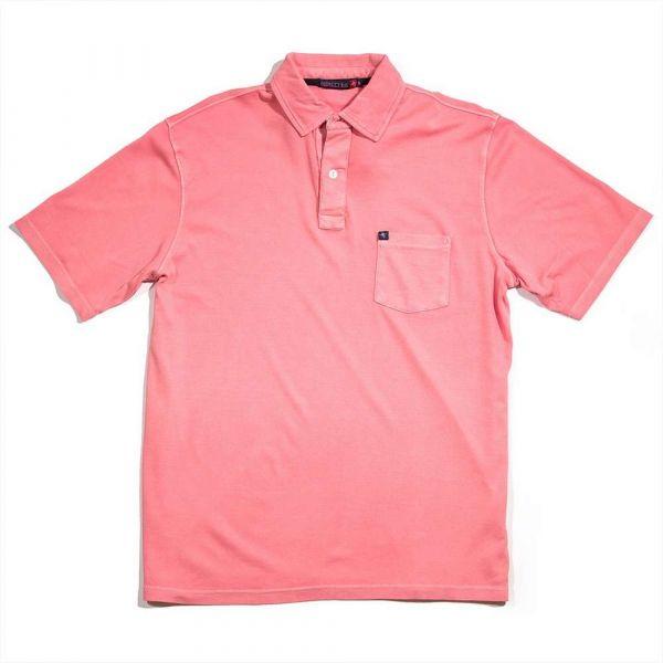 Jarrett Bay Newport Short Sleeve Polo Shirt - Red Fish