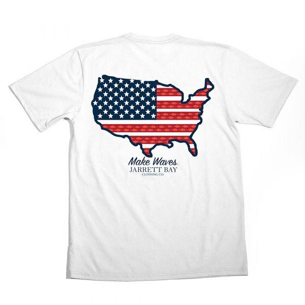 Jarrett Bay US Map Bogue Sound SS T-Shirt - 3X-Large