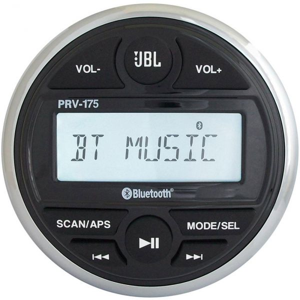 JBL PRV175 Gauge Style AM/FM/USB/Bluetooth Stereo